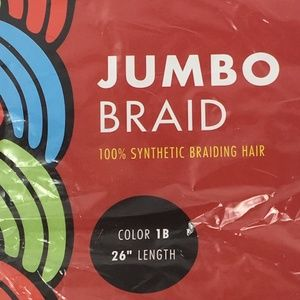 Jumbo Braid 100% Synthetic Color-1B Length 26""